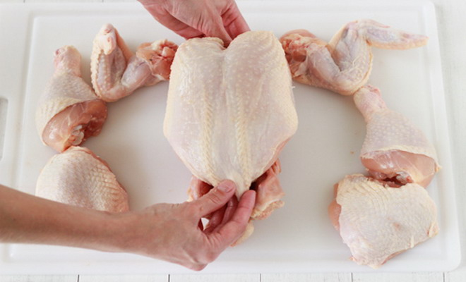 Курица разделанная на части
